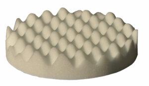 Spons wafelstructuur Ø150mm Wit (soft)-0