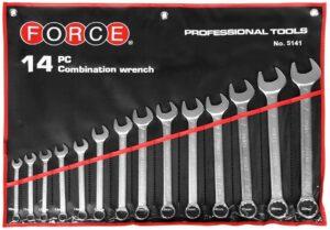 FORCE 5141 Steekringsleutelset 14 delig-0