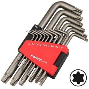 FORCE 5151L Haakse Torx sleutelset 15 delig-0