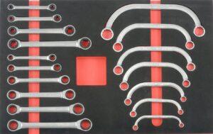 FORCE F5177 Sleutelset met ratel/gearwrench 17 delig-0