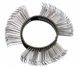 Borstelband 11mm, grof (zwart) - DELTACH-0