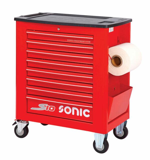 SONIC 4730928 Gereedschapswagen S10 rood leeg-0