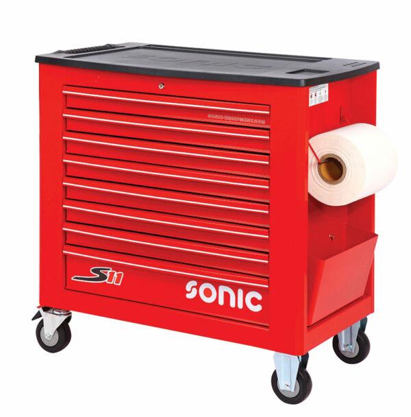 SONIC 4731128 Gereedschapswagen S11 Jumbo rood leeg-0