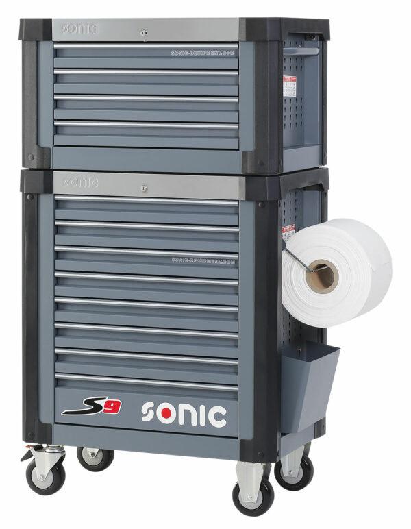 SONIC 4733210 Gereedschapswagen S9 donkergrijs leeg + Topbox-0