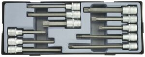 "FORCE T4116 1/2"" Doppenset Torx - Inbus - Spline 11 delig-0"