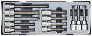 "FORCE T4122 1/2"" Doppenset Torx - Inbus - Spline 12 delig-0"