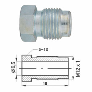 Remleidingnippel M12 x 1,00 mm - 10 stuks AL-RN103-0