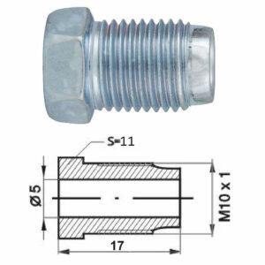 Remleidingnippel M10 x 1,00 mm - 10 stuks - Meest gebruikte-0