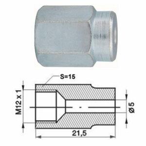 Remleidingnippel M12 x 1,00 mm - 10 stuks AL-RN107-0