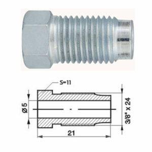"Remleidingnippel 3/8"" x 24 mm - 10 stuks AL-RN109-0"