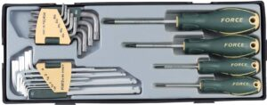 FORCE T2234LB Schroevendraaier & Haakse sleutel set-0