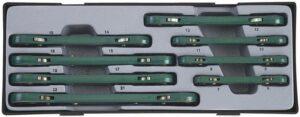 FORCE T50810 Ring-ratelsleutelset 8 delig-0