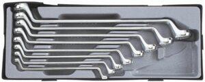 FORCE T5081 Dubbele ringsleutelset 8 delig - 75° gebogen-0