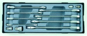 FORCE T51215 Steek-ratelsleutelset SAE 12 delig-0