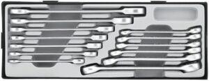 FORCE T51315 Open Ringsleutel & Steek-ratelsleutel Set 13 delig-0