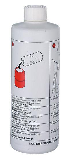 714802 Straalgrit, fles 700gr. voor de 706190-0