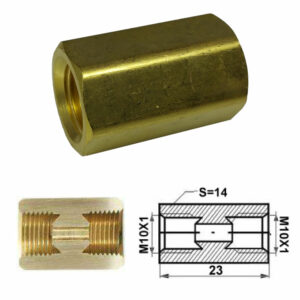 Remleiding Koppelstuk M10 x 1,00 mm (dubbele fels) - RK-124-0