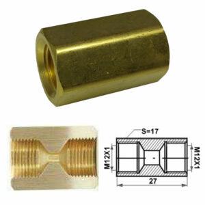 Remleiding Koppelstuk M12 x 1.00mm - RK-130-0