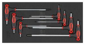 SONIC 600718 Stiftsleutel inbus met kogel L-type set 7dlg. SFS 1/3-0