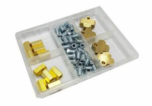 Remleiding koppelstukken en T-connector assortiment 64-delig-0