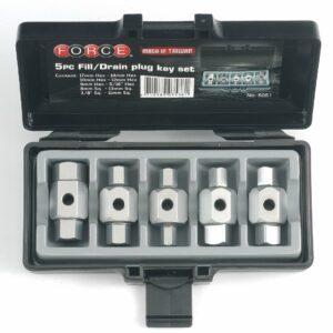 FORCE FC-5051 Oliecarterplug dopsleutel set 5-delig-0