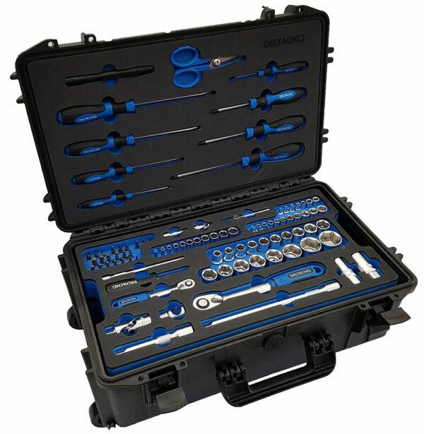 DELTACH 520505 Zeer robuust mobiele gereedschapskoffer, gevuld in FOAM-0