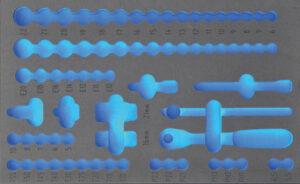 """DELTACH 130905 FOAM module (leeg) tbv 130071 (3/8"""" doppenset)-0"""
