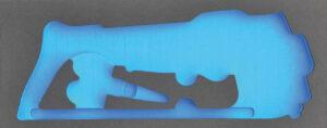 DELTACH 411905 FOAM module (leeg) tbv 411000 (set mes, schaar, zaag)-0
