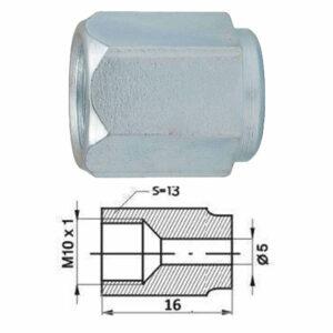 Remleidingnippel M10 x 1,00 mm - 10 stuks AL-RN108s-0