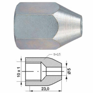Remleidingnippel M10 x 1,00 mm - 10 stuks AL-RN110x-0