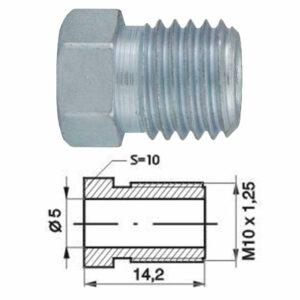 Remleidingnippel M10 x 1,25 mm - 10 stuks AL-RN113-0