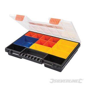 SILVERLINE 248965 Assortimentskoffer met uitneembare bakjes 13 vakken-0