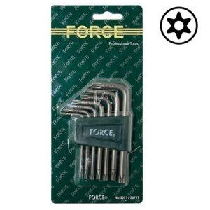 FORCE 5071T Haakse Resistorx sleutelset 7 delig-0