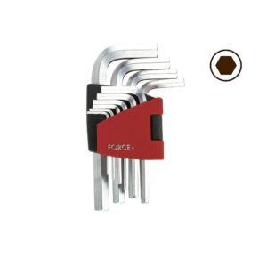 FORCE 5102 Haakse Inbus sleutelset 10 delig (vanaf 1,27 mm)-0