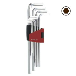 FORCE 5102XL Haakse Inbus sleutelset XL 10 delig (vanaf 1,27 mm)-0