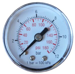 "STEINER SL15012 Manometer 1/8"" (tbv 1/4""+3/8"" +1/2 units)-0"