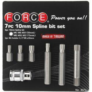 FORCE 4072 Bit set Spline 7 delig (Ø 10 mm)-0