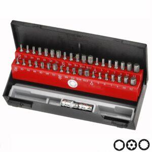FORCE 4401CT Bit set Inbus, Resistorx, Sline 40 delig (Ø 10 mm)-0