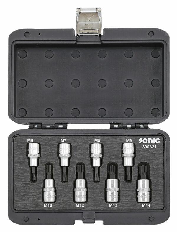 SONIC 300821 Bitdopset 1/2``, ribe 8-dlg. BMCS-0