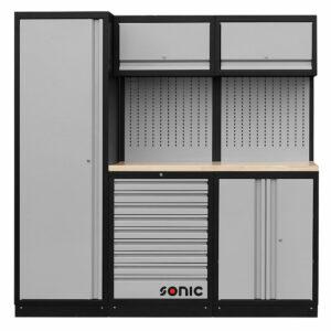 SONIC 4730196 MSS work station 196cm (houten bovenblad)-0