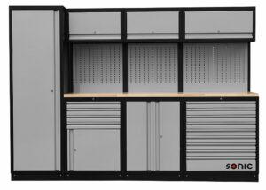 SONIC 4730281 MSS work station 281cm (houten bovenblad)-0