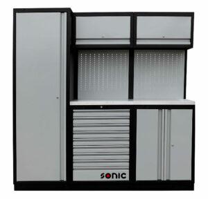 SONIC 4731196 MSS work station 196cm (roestvrij stalen bovenblad)-0