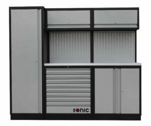 SONIC 4731230 MSS work station 230cm (roestvrij stalen bovenblad)-0