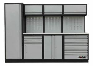 SONIC 4731281 MSS work station 281cm (roestvrij stalen bovenblad)-0