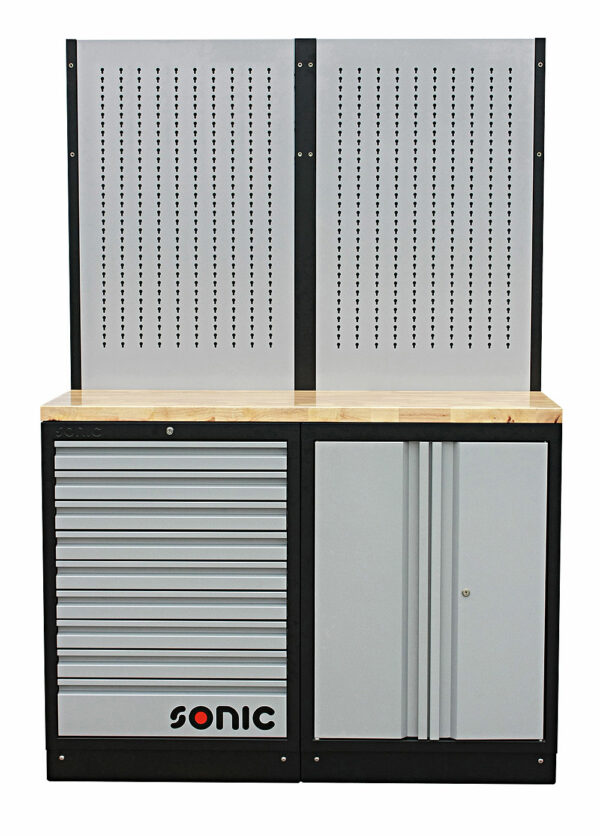 SONIC 4731302 MSS 26`` 9 laden, opbergkast & ophangpaneel (hout)-0