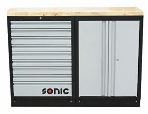 SONIC 4731306 MSS 26`` 9 laden & opbergkast met houten bovenblad-0