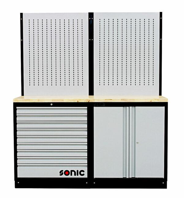 SONIC 4731402 MSS 34`` hoge kast, 18 laden, ophangpaneel, klepkast (hout)-0
