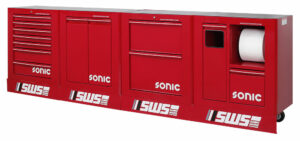 SONIC 4732220 SWS 128`` work station 3320mm rood leeg-0