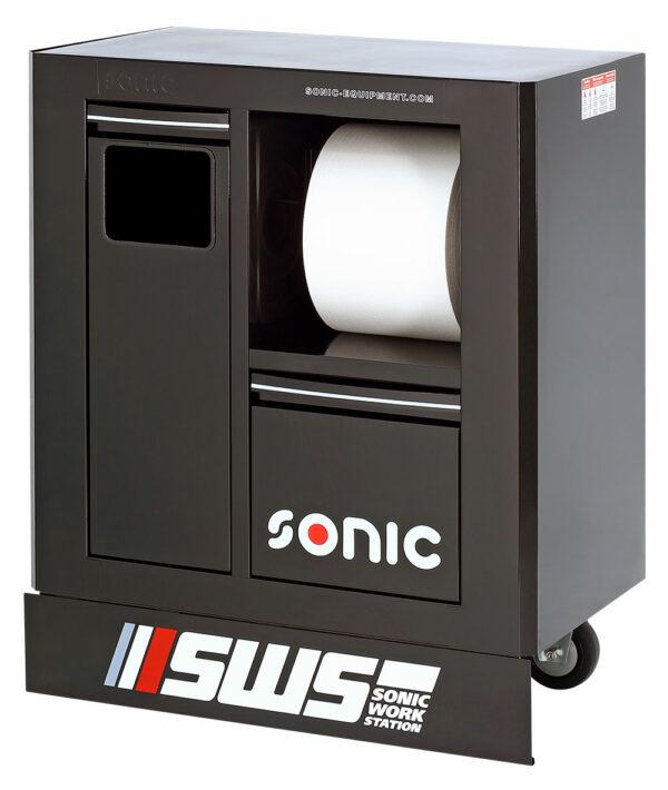 SONIC 47456 SWS 32`` Gereedschapswagen m afvalbak&papierrolhouder zwart-0