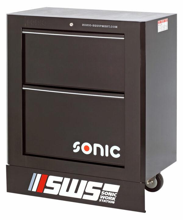SONIC 47457 SWS 32`` gereedschapswagen met 2 laden zwart-0
